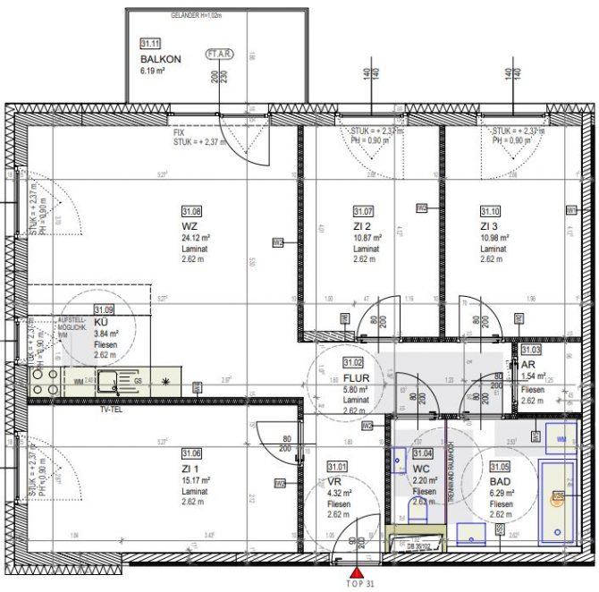 Immobilie von Wien-Süd in 2460 Bruck an der Leitha, Fliedergasse 1/Stiege 4 #3